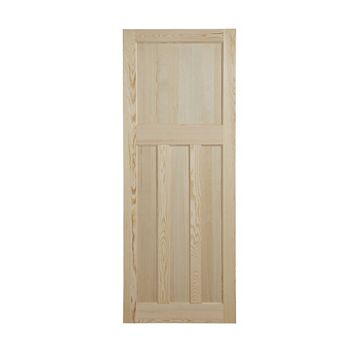 Traditional Panelled Clear Pine Internal Door, (H)1981mm (W)686mm