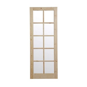 10 Lite Knotty Pine Internal Door, (H)1981mm (W)762mm