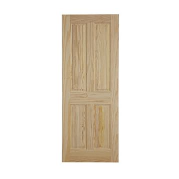 4 Panel Clear Pine Internal Fire Door, (H)2040mm (W)726mm