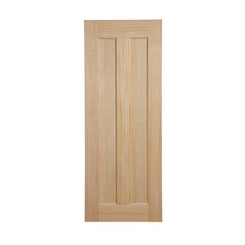 2 Panel Clear Pine Internal Door, (H)2040mm (W)826mm