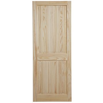 2 Panel Clear Pine Internal Door, (H)1981mm (W)610mm