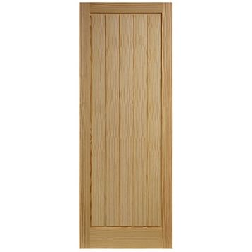 Cottage Panelled Clear Pine Internal Door, (H)1981mm (W)610mm