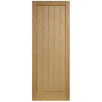Cottage Panelled Clear Pine Internal Door, (H)2040mm (W)726mm