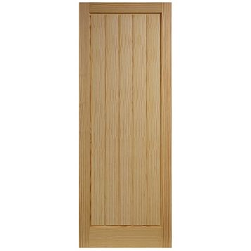 Cottage Panelled Clear Pine Internal Door, (H)2040mm (W)826mm