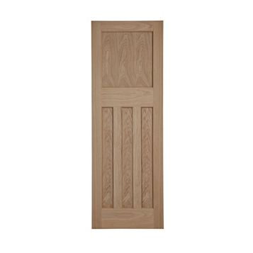 Traditional Panelled Oak Veneer Internal Door, (H)1981mm (W)686mm