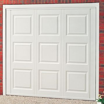 Jersey Framed Retractable Garage Door, (H)1981mm (W)2438mm