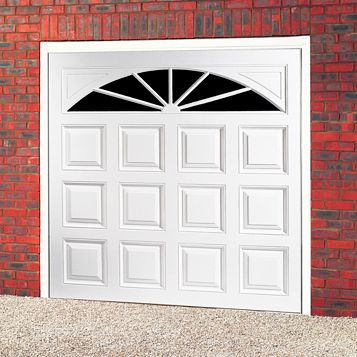 Washington Framed Retractable Garage Door, (H)2134mm (W)2286mm