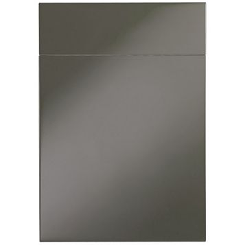 IT Kitchens Santini Gloss Anthracite Slab Drawer Line Door & Drawer Front (W)500mm, Set of 1 Door & 1 Drawer Pack