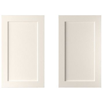 Cooke & Lewis Carisbrooke Ivory Larder Door (W)600mm, Set of 2