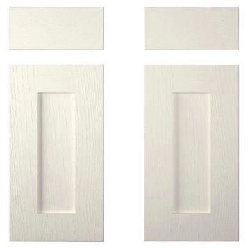 Cooke & Lewis Carisbrooke Ivory Corner Base Drawerline Door (W)925mm, Set of 2