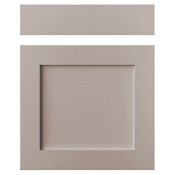 Cooke & Lewis Carisbrooke Taupe Drawerline Door & Drawer Front (W)600mm, Set of 1 Door & 1 Drawer Pack