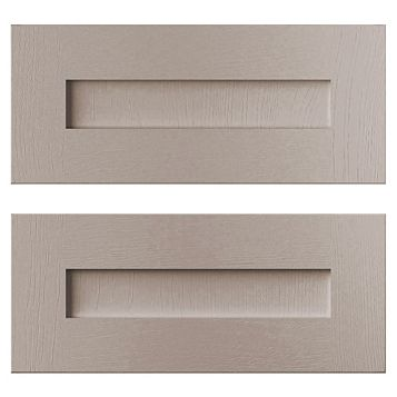 Cooke & Lewis Carisbrooke Taupe Tower Drawer Front (W)600mm, Set of 2