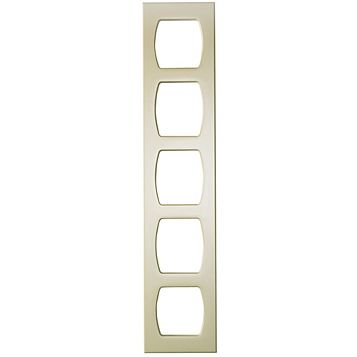 Cooke & Lewis High Gloss Cream Tall Wine Rack Frame, 150 x 900mm