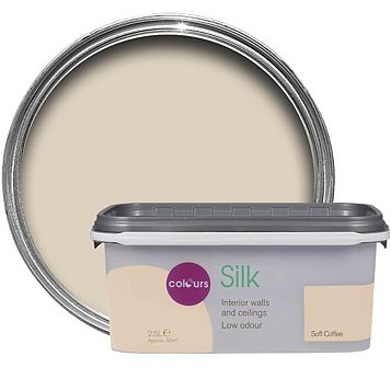 Colours Soft Coffee Silk Emulsion Paint 2.5L