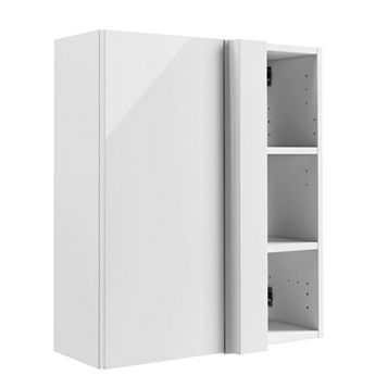 Cooke & Lewis Santini Gloss White Corner Wall Cabinet