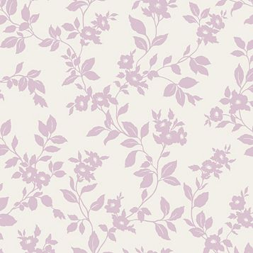 Mayflower Pink & White Floral Mica Effect Wallpaper
