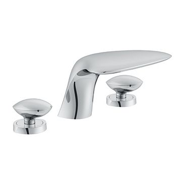 Cooke & Lewis Pebble Chrome Bath Mixer Tap
