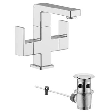 Cooke & Lewis Lincoln 2 Lever Basin Mixer Tap