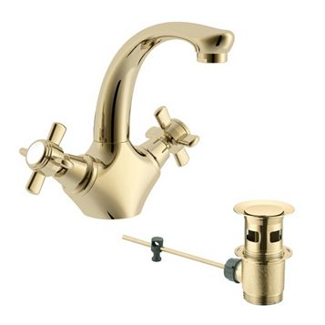 Cooke & Lewis Classic 2 Lever Basin Mixer Tap
