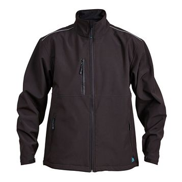 Rigour Black Water Repellent Softshell Jacket Large