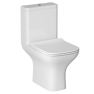 Cooke & Lewis Lanzo Close-Coupled Toilet with Soft Close Seat