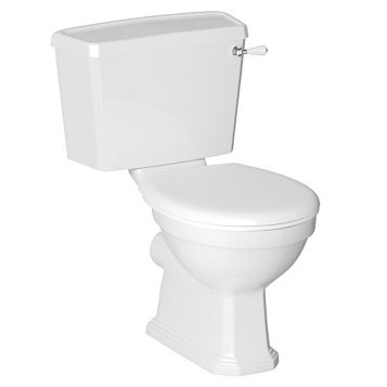Cooke & Lewis Serina Classic Close-Coupled Toilet with Soft Close Seat