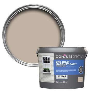 Colours Premium Sandstone Beige Matt Masonry Paint 5000ml