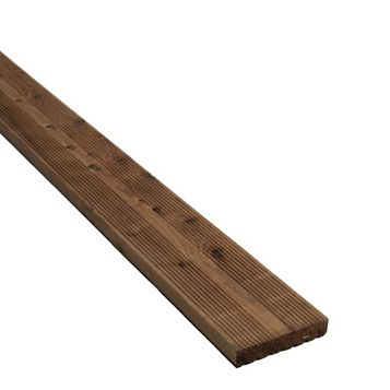 Premium Brown Softwood Reversible Deck Board (W)144mm (L)3600mm (T)28mm