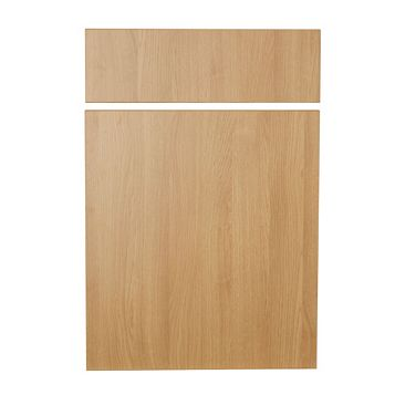 IT Kitchens Sandford Textured Oak Effect Slab Drawerline Door & Drawer Front (W)500mm, Set of 1 Door & 1 Drawer Pack