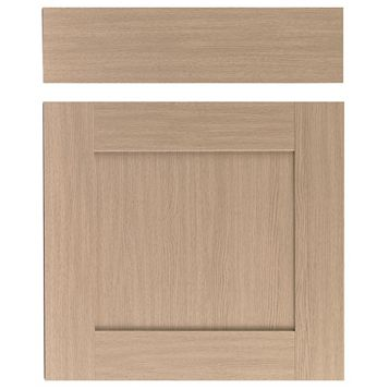 IT Kitchens Westleigh Textured Oak Effect Shaker Drawer Line Door & Drawer Front (W)600mm, Set of 1 Door & 1 Drawer Pack