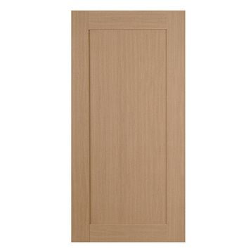 IT Kitchens Westleigh Textured Oak Effect Shaker Fridge Freezer Door (W)600mm