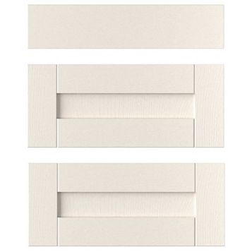 IT Kitchens Brookfield Textured Ivory Style Shaker Drawer Front (W)600mm, Set of 3
