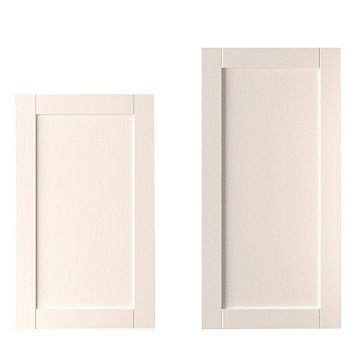 IT Kitchens Brookfield Textured Ivory Style Shaker Tall Larder Door (W)600mm, Set of 2