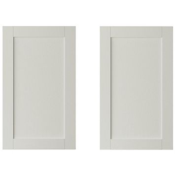 IT Kitchens Brookfield Textured Mussel Style Shaker Larder Door (W)600mm, Set of 2