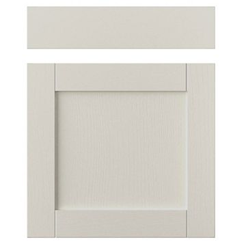 IT Kitchens Brookfield Textured Mussel Style Shaker Drawerline Door & Drawer Front (W)600mm, Set of 1 Door & 1 Drawer Pack