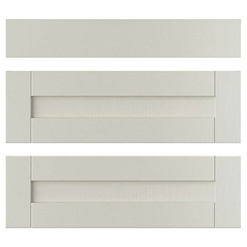 IT Kitchens Brookfield Textured Mussel Style Shaker Pan Drawer Front (W)800mm, Set of 3