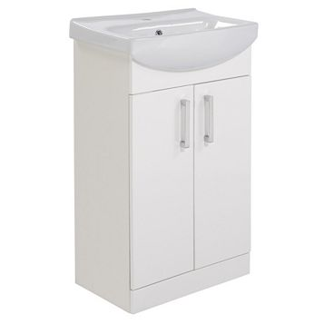 Ardenno Gloss White Vanity Unit & Basin Set