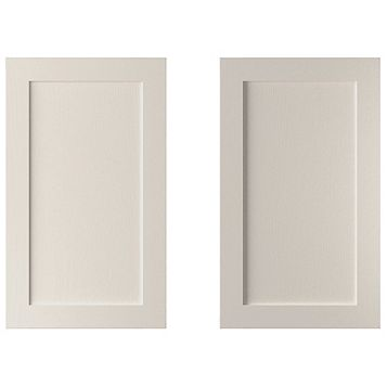Cooke & Lewis Carisbrooke Cashmere Larder Door (W)600mm, Set of 2