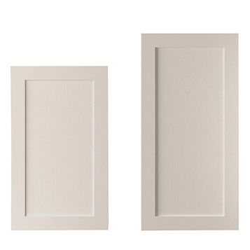 Cooke & Lewis Carisbrooke Cashmere Tall Larder Door (W)600mm, Set of 2