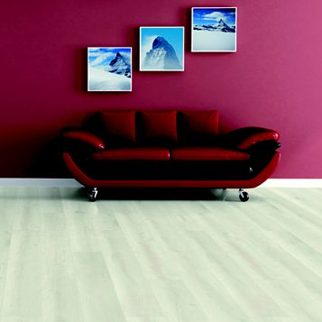 Barranco Cream Painted Wood Effect Laminate Flooring Sample