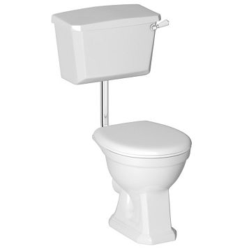 Cooke & Lewis Serina Traditional Low Level Toilet with Soft Close Seat