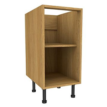 Cooke & Lewis Oak Effect Standard Base Cabinet (W)400mm