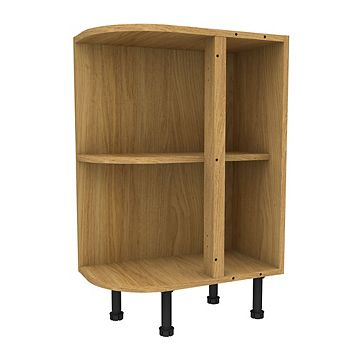 Cooke & Lewis Oak Effect Curved End Base Cabinet (W)335mm