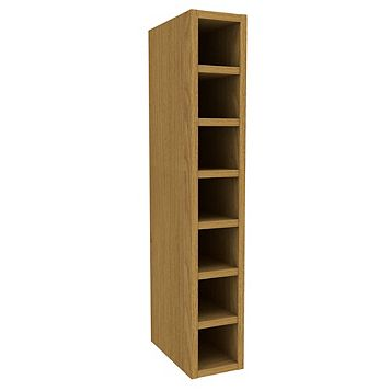 Cooke & Lewis Oak Effect Wine Rack Tall Wall Cabinet (W)150mm