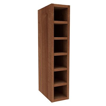 Cooke & Lewis Walnut Effect Wine Rack Wall Cabinet (W)150mm