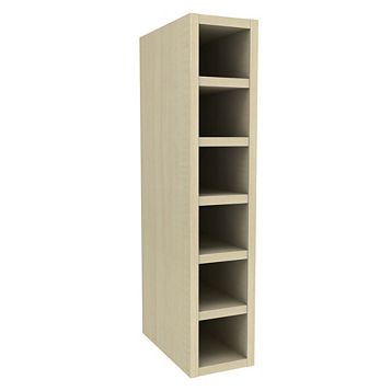 Cooke & Lewis Maple Effect Wine Rack Wall Cabinet (W)150mm