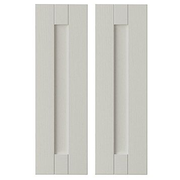 IT Kitchens Brookfield Textured Mussel Style Shaker Corner Wall Door (W)625mm, Set of 2