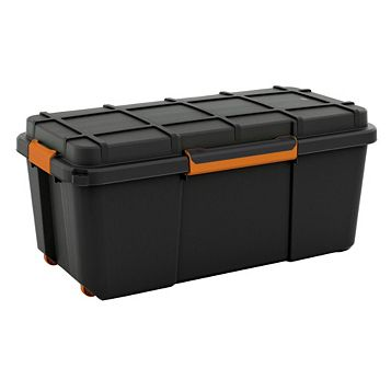 Form Flexi-Store Black Large 74L Plastic Waterproof Storage Box