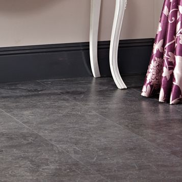 Tila Black Slate Tile Effect Laminate Flooring 1 m² Pack