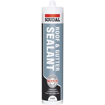 Soudal Roof & Gutter Sealant Black,  300ml